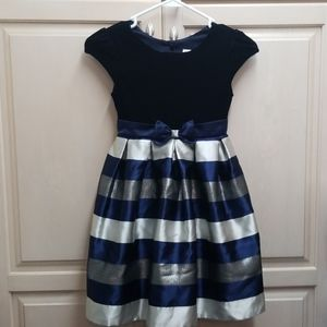 Blue ,silver & sparkly little girls holiday dress
